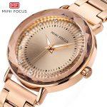 MINIFOCUS Top Brand Quartz Women Watch 2018 Rose Gold <b>Bracelet</b> Watches Fashion Luxury <b>Silver</b> Gold Clock For Ladies Relojes Mujer