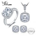 JewelryPalace Shining <b>Jewelry</b> Set Ring Pendant Earring Unique 925 <b>Sterling</b> <b>Silver</b> Fine <b>Jewelry</b> Brand 45cm Chain