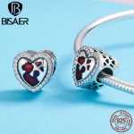 Brand New Real 925 Sterling Silver For My Dearest Mom Love Red Heart Charms Fit Charm Silver 925 Bracelet Beads & <b>Jewelry</b> <b>Making</b>