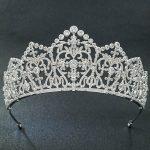 5A CZ Cubic Zirconia Classic <b>Wedding</b> Bridal Silver Big Tiara Diadem Crown Women Girl Prom Party Hair <b>Jewelry</b> Accessories S16439