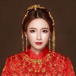Classic Gold Color Hair Sticks Headdress Traditional Chinese Style Hair <b>Jewelry</b> Sets Wedding Costume Tassel Step Shake <b>Handmade</b>
