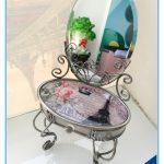Paris <b>Fashion</b> Design Desk Type Glass <b>Jewelry</b> Box with Mirror Stand
