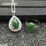 KJJEAXCMY Fine jewelry, 925 <b>silver</b> inlaid natural Jasper lady set, simple and generous wholesale