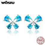WOSTU <b>Jewelry</b> <b>Making</b> 925 Sterling Silver Elegant Butterfly Blue CZ Stud Earrings For Women Wedding <b>Jewelry</b> Fashion Gift CQE371