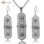 Luxury Zirconia Jewelry Sets Classic Crystal Bridal Jewelry Real 925 <b>Silver</b> Pendant <b>Earrings</b> Sets Wedding Jewelry for Women