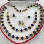 Prett Lovely Women's Wedding women's gift gem yellow Earring Bracelet Necklace Ring +box 5.27 silver-<b>jewelry</b> Natural