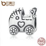 BAMOER Authentic 925 Sterling Silver Baby Carriage Charm Charms fit Original Brand Bracelet Beads & <b>Jewelry</b> <b>Making</b> PAS308