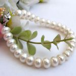 Sinya pearls strand <b>bracelets</b> for women with White pink purple multicolor natural freshwater pearl 9-10mm for optional hot sale