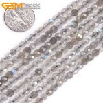 """Gem-inside AAA Natural Tiny Small Seed Spacer Beads Blue Rainbow Labradorite Stone Beads For <b>Jewelry</b> <b>Making</b> Strand 15"""" DIY"""