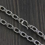 Fyla Mode Brand Real S925 <b>Silver</b> Men Necklace Men <b>Jewelry</b> Wholesale New Trendy 7MM Wide <b>Silver</b> Chain Necklace TYC159