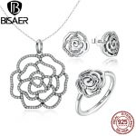 Authentic 925 Sterling Silver <b>Jewelry</b> Set Shimmering Rose Pendant Necklace <b>Jewelry</b> Sets Wedding Brand Engagement <b>Jewelry</b> <b>Making</b>