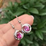 natural pink topaz stone drop <b>earrings</b> 925 <b>silver</b> Natural gemstone <b>earring</b> women romantic fashion drop <b>earrings</b> for wedding