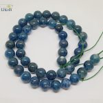 LiiJi Unique Natural Stone Blue Kyanite Cat's Eye 8-9mm Round beads DIY <b>Jewelry</b> <b>Making</b> Necklace or Bracelet Approx 39cm
