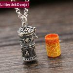 2017 Men Women Buddha Necklace 925 <b>Sterling</b> <b>silver</b> Buddhist Heart Sutra Pearl Chain Pendant Necklace Ga black box <b>Jewelry</b> FN34