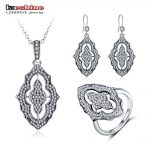 LZESHINE 100% 925 Sterling <b>Silver</b> Jewelry Set with Pendant Necklace /Rings /<b>Earrings</b> CZ Stone Sterling <b>Silver</b> Jewelry PSST0004-B