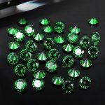 Wholesale Emerald 4-12mm Round Shape Pointback Brilliant Cubic Zirconia Stones DIY <b>Jewelry</b> Findings <b>Supplies</b> Accessory