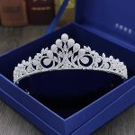 Full Zircon Leaf Tiara Copper Zircon Tiaras Micro Pave CZ Bride Crown Wedding Hair <b>Jewelry</b> Diadem Mariage Bijoux Coroa WIGO1042