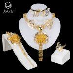 BAUS Dubai <b>Jewelry</b> Sets Fashion Nigerian Wedding African Beads <b>Jewelry</b> Set Bridal gift big <b>necklace</b> earrings rings bracelet Sets