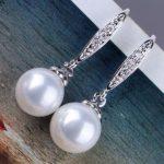 handmade lovely bead unique natural round 10mm Australian south sea white pearl <b>earrings</b>
