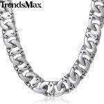 Trendsmax Biker Mens Long <b>Necklace</b> 316L Stainless Steel Chain Fashion <b>Jewelry</b> HN01