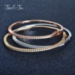 Jin&Ju <b>Fashion</b> Style C Colorful Bangle Nice Gifts <b>Jewelry</b> With Gold Plating Rose Gold Bracelet Bangle
