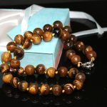 Natural tiger's eye stone 8mm trendy stone high quality round beads diy beautiful woman necklace <b>making</b> 18 inches BV393