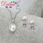 DAIMI High Quality Natural Pearl Pendant Jewelry 925 <b>Silver</b> Genuine Pearl Pendant <b>Necklace</b> Earrings.