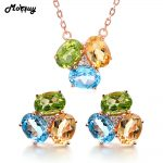 MoBuy Gemstone Earrings & Necklaces 2pcs <b>Jewelry</b> Sets Topaz Citrine Peridot 925 <b>Sterling</b> <b>Silver</b> Wedding Fine <b>Jewelry</b> V003EN