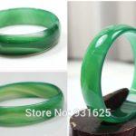 Natural Green 12-16mm Wide Bangle <b>Handmade</b> Woman's Bracelet Fashion Green Bangles Fine <b>Jewelry</b> 57-62mm