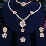 GODKI Flower Blossom Elegant Luxury Women Wedding Naija Bridal Cubic Zirconia <b>Necklace</b> Dubai Dress <b>Jewelry</b> Set
