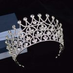 Gorgeous Sparkling Silver Big <b>Wedding</b> Diamante Pageant Tiaras Hairband Crystal Bridal Crowns For Brides Hair <b>Jewelry</b> Headpiece
