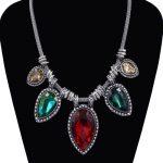 Multicolor Rhinestone Choker Necklace Women Boho <b>Jewelry</b> <b>Accessories</b> Free Shipping New Neck Collar Choker Hot Sale