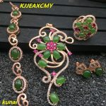 KJJEAXCMY boutique jewels 925 pure <b>silver</b> inlaid with natural Jasper women ring, pendant <b>earring</b> bracelet and 4 suit necklaces