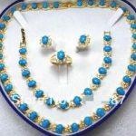 Lovely Turquoises Necklace / <b>Bracelet</b> / Ring / Earring Set>>> Free shipping