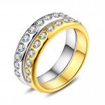 2018 Fashion New 18K Ring Zircon Embellishment <b>Jewelry</b> Charm Women Fitting <b>Supply</b> Party Gift