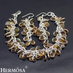 Honey Chalcedony Jewelry Sets 925 Sterling <b>Silver</b> Earrings <b>Bracelet</b> For Women NY802 Classical Handcrafted Unique Party Set