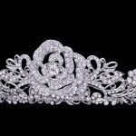 High Quality Flower Rose Crown Wedding <b>Jewelry</b> Clear Austrian Crystals Bridal Tiaras and Crowns for Women Fashion Brand JHA7721