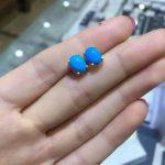 natural blue turquoise stone <b>earrings</b> 925 <b>silver</b> Natural gemstone <b>earring</b> women classisc <b>earrings</b> for anniversary
