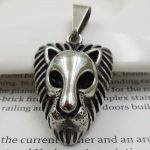 Lion Head Necklace for Men Women 316L Stainless Steel Animal Pendant <b>Antique</b> Silver Biker <b>Jewelry</b> Wholesale Dropship