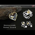 Lotus Fun Real 925 Sterling <b>Silver</b> Handmade Fine Jewelry Honeycomb Home Guard Jewelry Set with Ring <b>Earring</b> Pendant Necklace