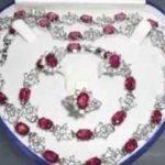 Women's Wedding Beautiful Popular <b>jewelry</b> Green gem Necklace Bracelet Ring Earring SetAA14 moda real silver –<b>jewelry</b>