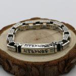 Vintage Retro Tibetan Buddhism Sterling <b>Silver</b> <b>Bracelet</b> Men's Square Chain Thai <b>Silver</b> Heart Sanskrit Word <b>Bracelet</b> Domineering
