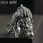 Thailand Buddha Ring Authentic 100% 925 <b>Sterling</b> <b>Silver</b> Rings for Men Vintage Punk Style Men <b>Jewelry</b> 32.20mm 23.80G PBG034