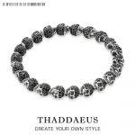 Black Zirconia Skeleton Skull <b>Bracelet</b>,Thomas Style Heart Good Jewelry For Men & Women,2017 Ts Rebel Gift In <b>Silver</b>,Super Deals