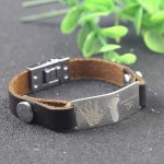 Men <b>Bracelet</b> New Fashion 925 Solid Silverl <b>Bracelets</b> Brown Leather Engrave Handprints and Hootprints Jewelry For Birthday Gift