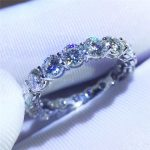 choucong Fine <b>Jewelry</b> Women Band 925 <b>sterling</b> <b>Silver</b> ring 3ct Diamonique 5A Zircon Cz Engagement Wedding Rings For Women Gift