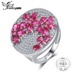 JewelryPalace Huge Luxury 3.3ct Created Red Ruby Cocktail Ring Genuine 925 <b>Sterling</b> <b>Silver</b> Fine <b>Jewelry</b> Nice Gift For Women/Wife