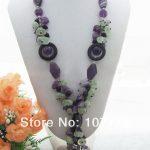 Purple Crystal&Onyx <b>Necklace</b>