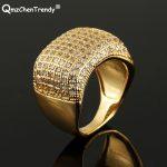 Copper Treny <b>Jewelry</b> Micro Cubic Zirconia CZ Ring Mens Street Dance Popular Rings Hip-Hop Punk Rapper DJ Finger <b>Accessories</b>