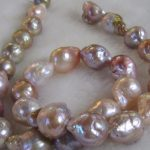 Wholesale price ^^^Genuine 12-14mm Natural South Sea Baroque Lavender Akoya Pearl <b>Necklace</b>